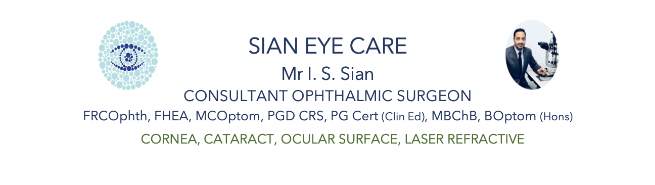 Mr Indy Sian Consultant Ophthalmologist